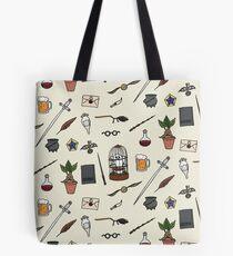 Eule und Zauberstab Tote Bag