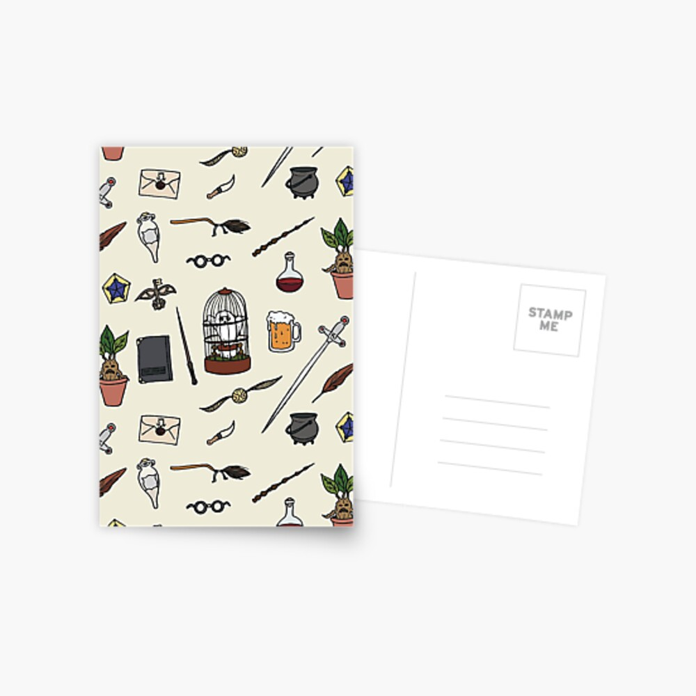 Owl and wand Postcard