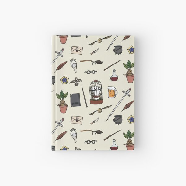 Owl and wand Hardcover Journal