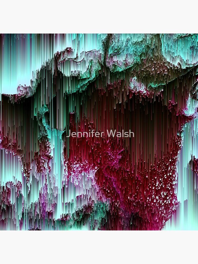 Amoeba - Abstract Glitchy Pixel Art by InsertTitleHere