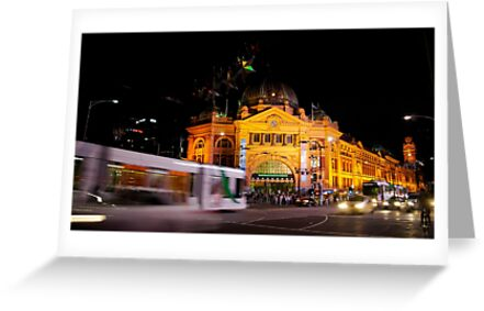 Flinders Street Station by acertainview