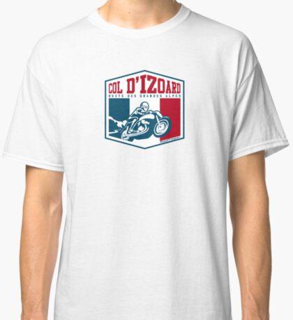 Route des Grandes Alpes France Motorcycle T-Shirt Sticker - Col d'Izoard 2 Classic T-Shirt