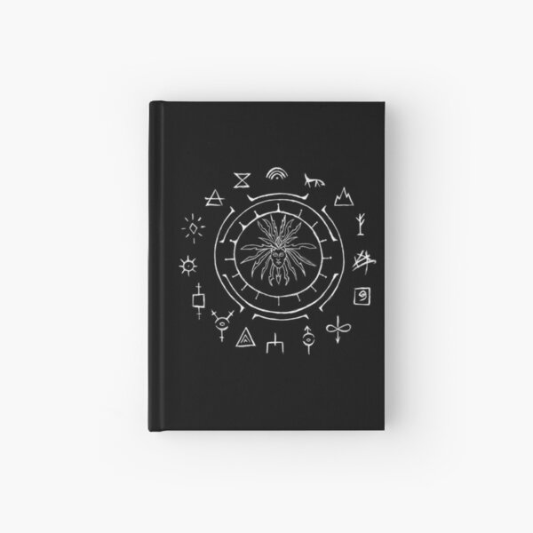 The Great Ring of Planes (White on Black) Hardcover Journal