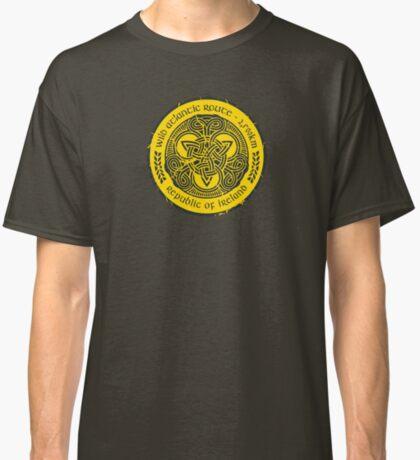 Wild Atlantic Route, Ireland - Celtic Triskele Knot - Yellow/Graphite Classic T-Shirt