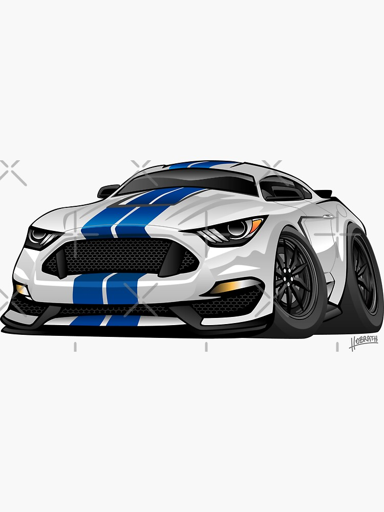 Modern American Muscle Car Cartoon by hobrath