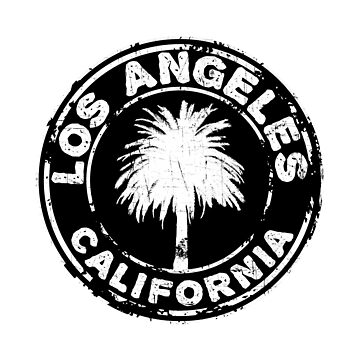 Los Angeles California Black And White Palm Tree by MyHandmadeSigns