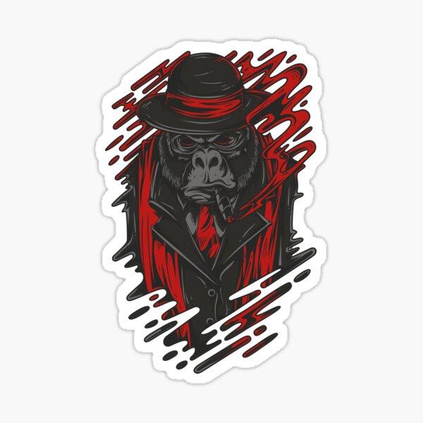 mafia gorilla Sticker
