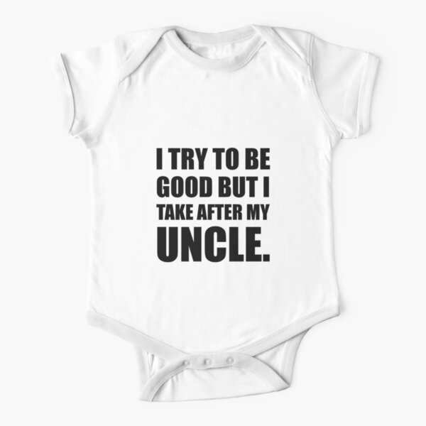 Take After My Uncle Funny Short Sleeve Baby One-Piece