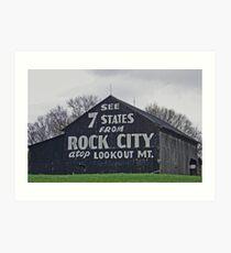 Rock City Barn  Art Print