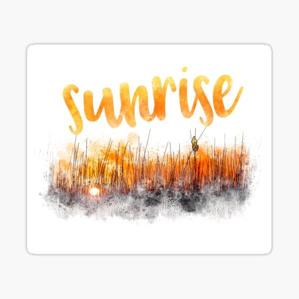 Sunrise with blackbird Sticker