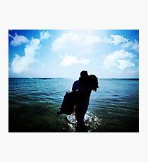 ROMANCE AT THE BEACH Photographic Print