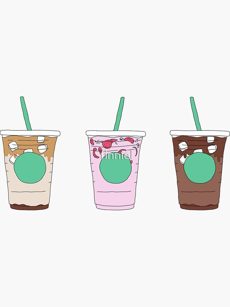 Starbucks Eiskaffee Getränke Menü Pack von finniel