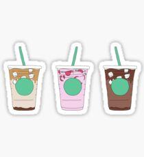 Pegatina paquete de menú de bebidas de café helado starbucks