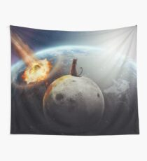 Cat Victory Wall Tapestry