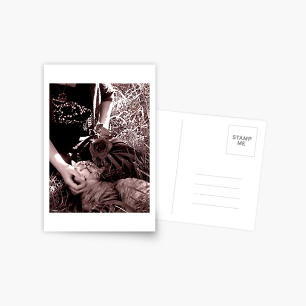 Stop and Smell the Roses-Goth tint Postcard