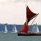 Sailing Barge at Cowes, Isle of Wight, Hampshire, England by LumixFZ28