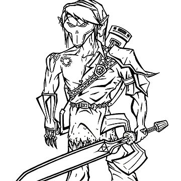Death Link (Line Art) by Dach1989