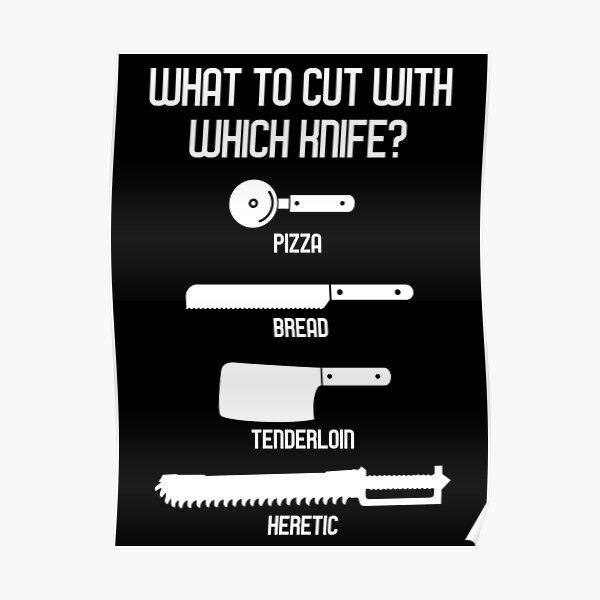 Que couper avec quel couteau - Wargaming Meme Chart Poster
