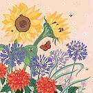 Sunflowers and Bees by Angie Spurgeon