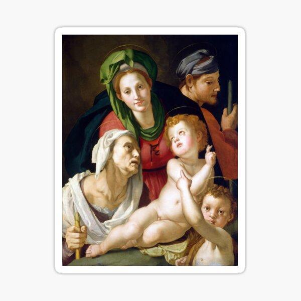 Agnolo Bronzino The Holy Family Sticker