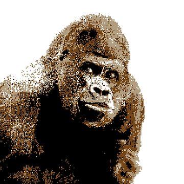 Gorilla Pixel Art by Grathicks