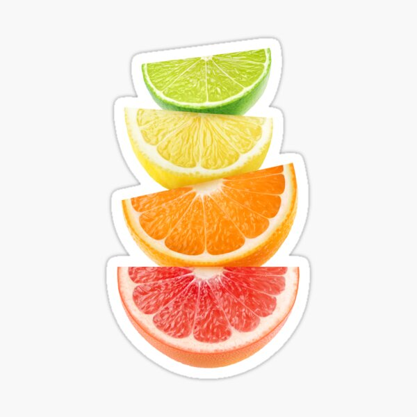 Citrus slices pyramid Sticker