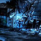 Abandoned Nightime Garage by Demoshane