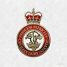 Princess Patricia's Canadian Light Infantry - PPCLI Cap Badge over White Leather by Serge Averbukh