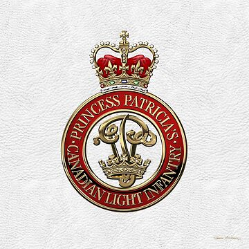 Princess Patricia's Canadian Light Infantry - PPCLI Cap Badge over White Leather by Captain7