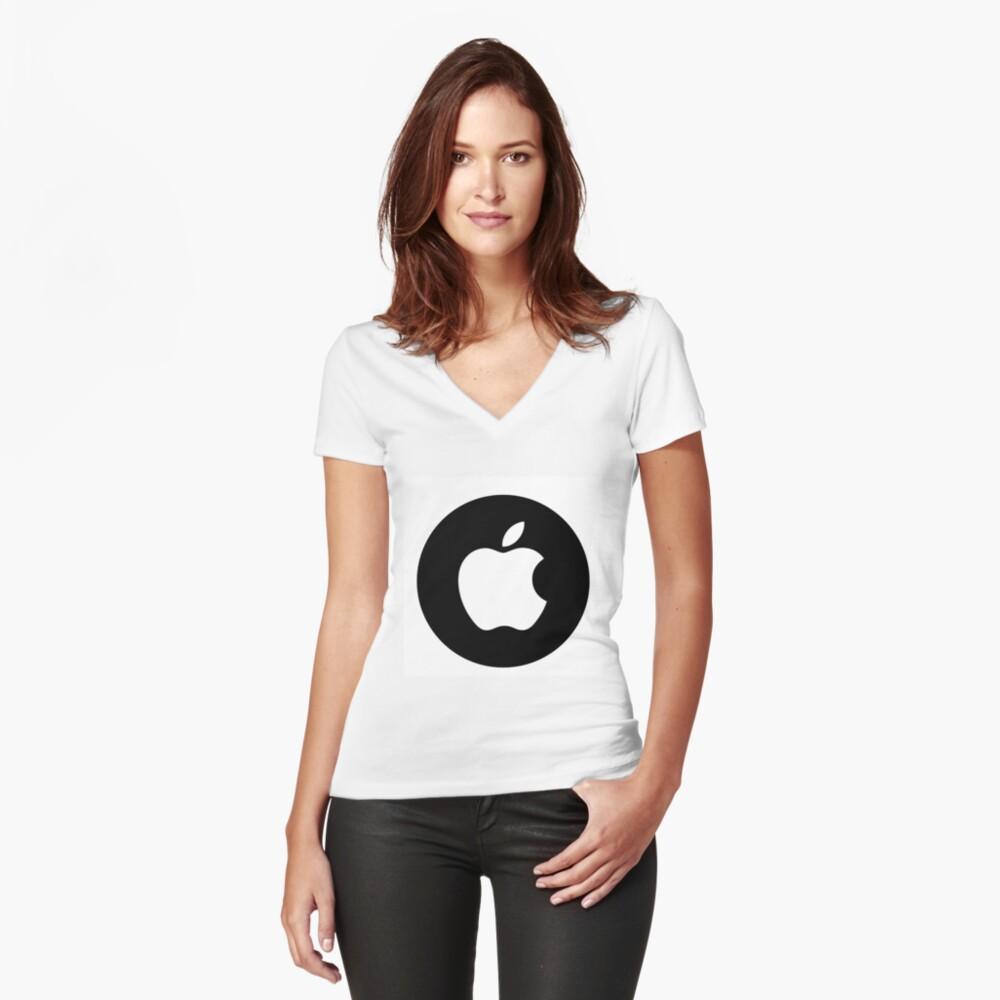 Fanáticos de Apple? Camiseta entallada de cuello en V