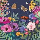 Honeysuckle and Anemones by Angie Spurgeon