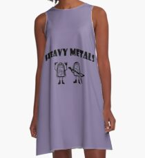 Heavy metals rock, chemistry, physics - periodic table of elements A-Line Dress