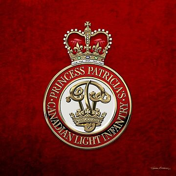 Princess Patricia's Canadian Light Infantry - PPCLI Cap Badge over Red Velvet by Captain7