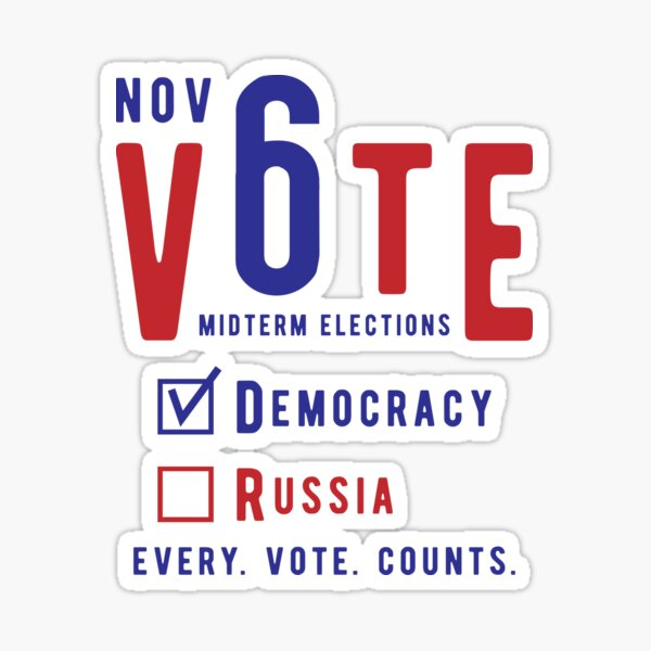 Vote for Democracy Sticker