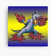 Psychic Attack Golduck  Canvas Print