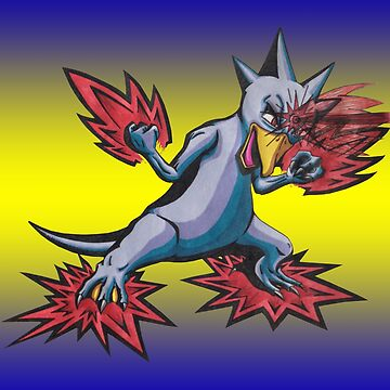 Psychic Attack Golduck  by Dach1989