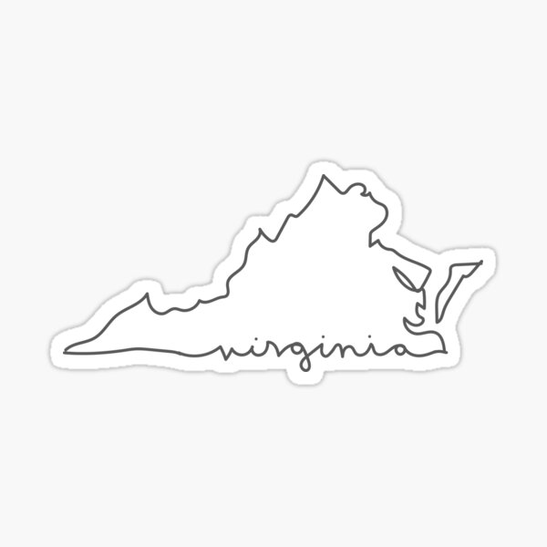 Virginia Line Sticker