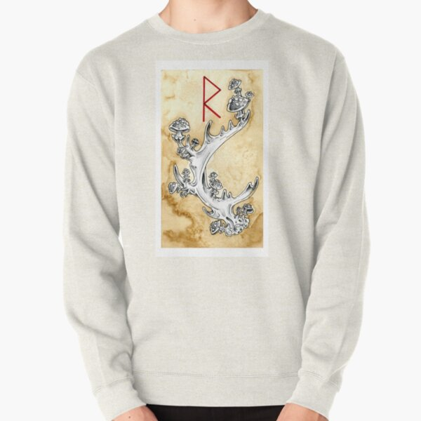 Elder Futhark 5. Raidho by Haunting Beauty Art Pullover Sweatshirt