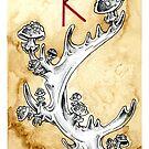 Elder Futhark 5. Raidho by Haunting Beauty Art by hauntingbeauty