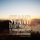1 Chronicles 23:30 Verse Morning Print by ScripturePics