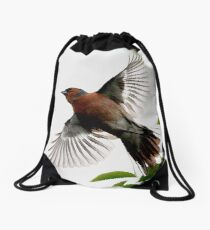 Flight Of The Chaffinch Drawstring Bag