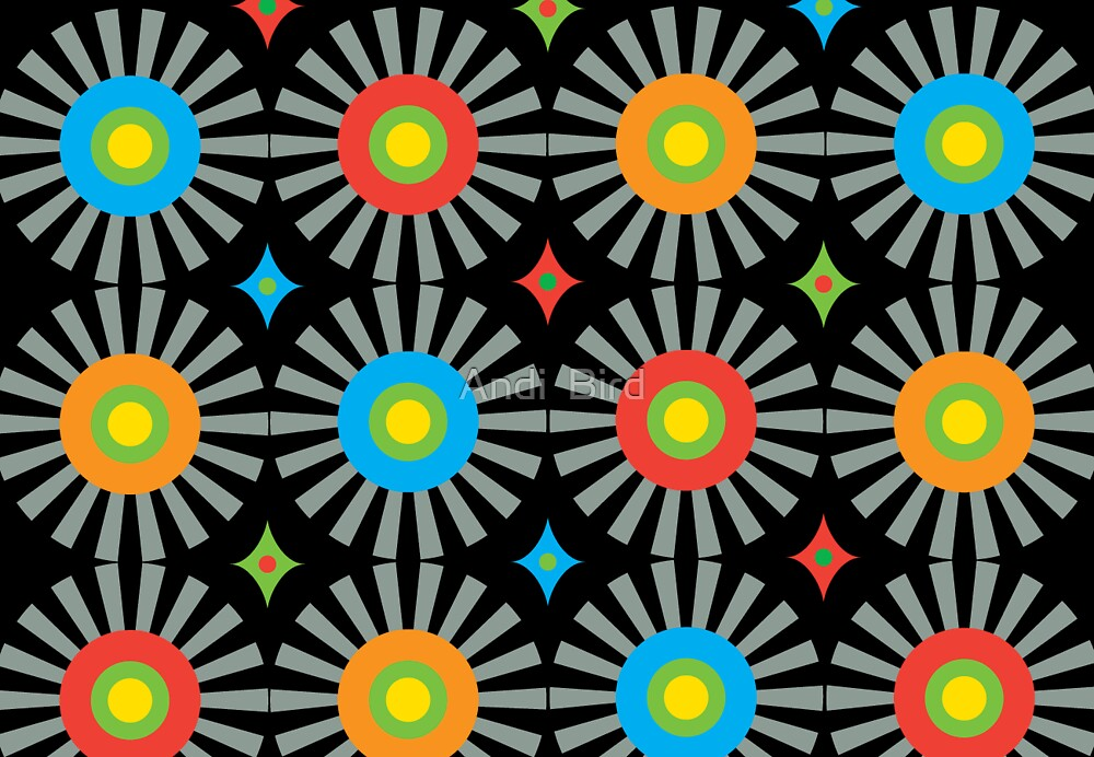 Color Burst card  by Andi Bird