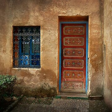 Red Door ~ Blue Window  by GVAZDesigns