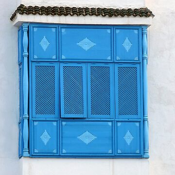Sidi Bou Said Blue Window by GVAZDesigns