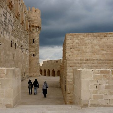 Walking at The Qaitbay Citadel In Alexandria   by GVAZDesigns