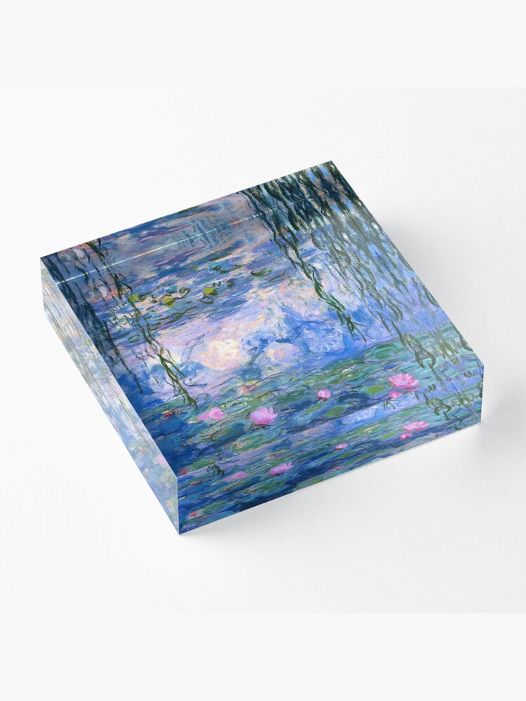 Alternate view of Water Lilies Monet Acrylic Block