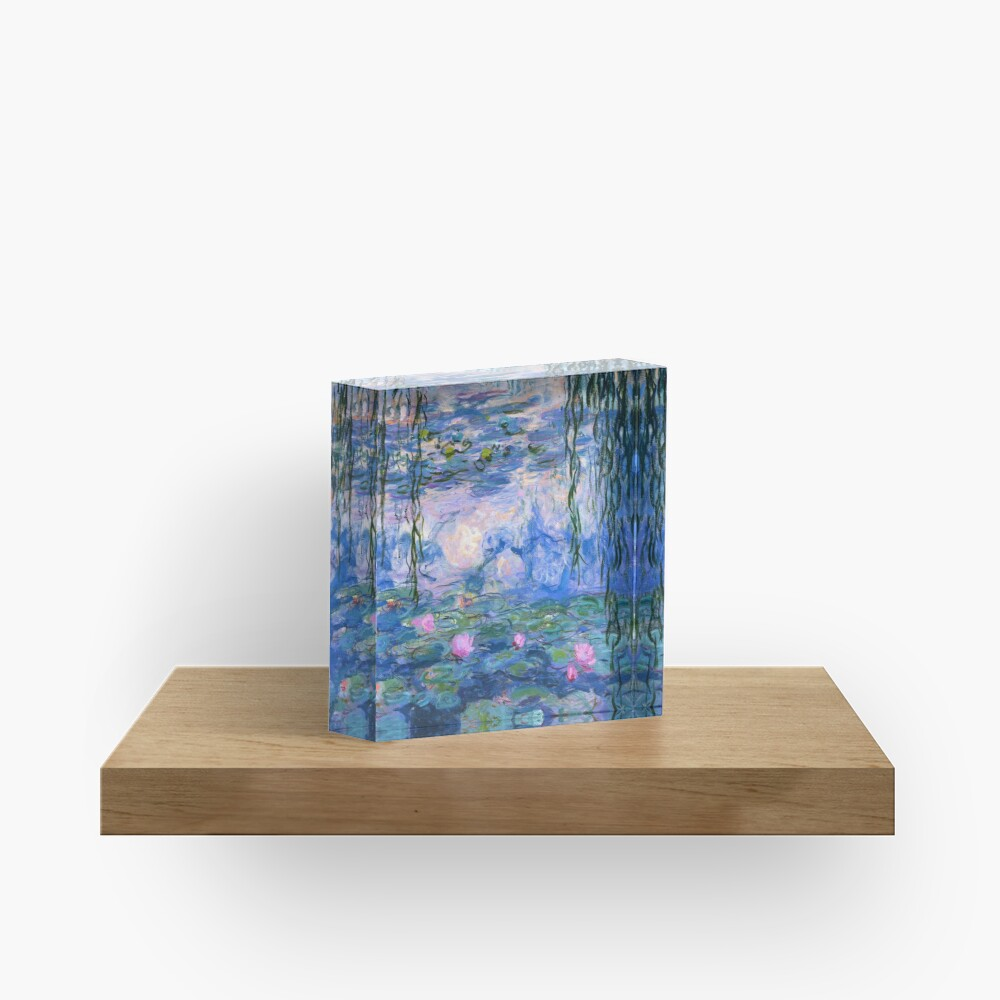 Water Lilies Monet Acrylic Block