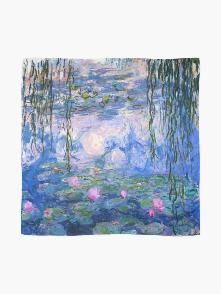 Alternate view of Water Lilies Monet Scarf