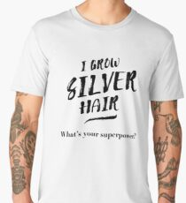 Silver Hair Superpower - black Men's Premium T-Shirt