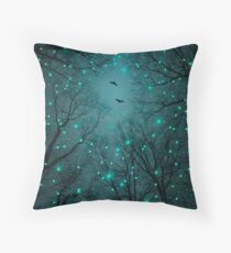 Silently, One by One, the Stars Blossomed (Geometric Stars Remix) Throw Pillow